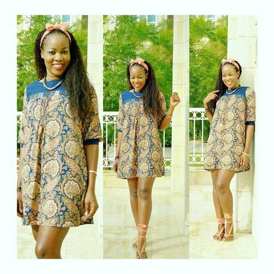 Kitenge shirt dress for pregnant women