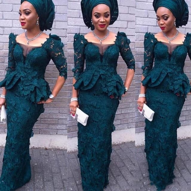 f3ceebac74 Lace African dresses designs ▷ Tuko.co.ke