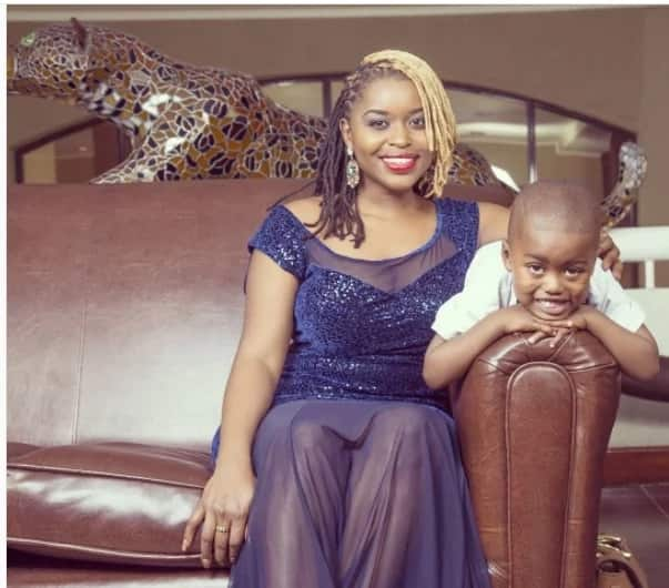 Radio presenter Mwende shows the world her son with gospel and Churchill show producer