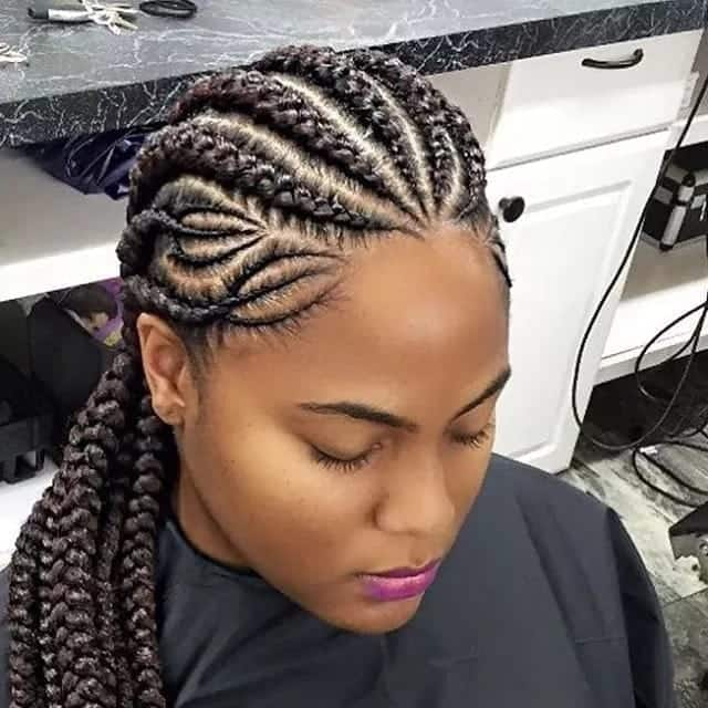 Ghanaian lines hairstyles