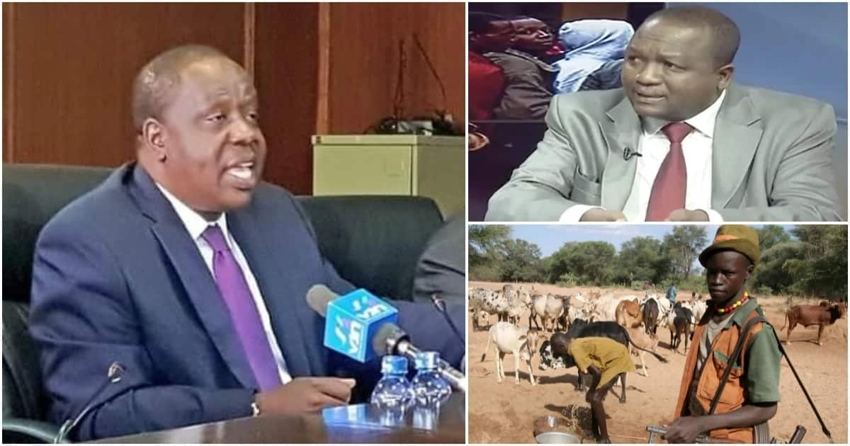 Interior Cabinet Secretary Fred Matiang'i appearing before the National Assembly Security and National Administration Committee on Tuesday, April 24.