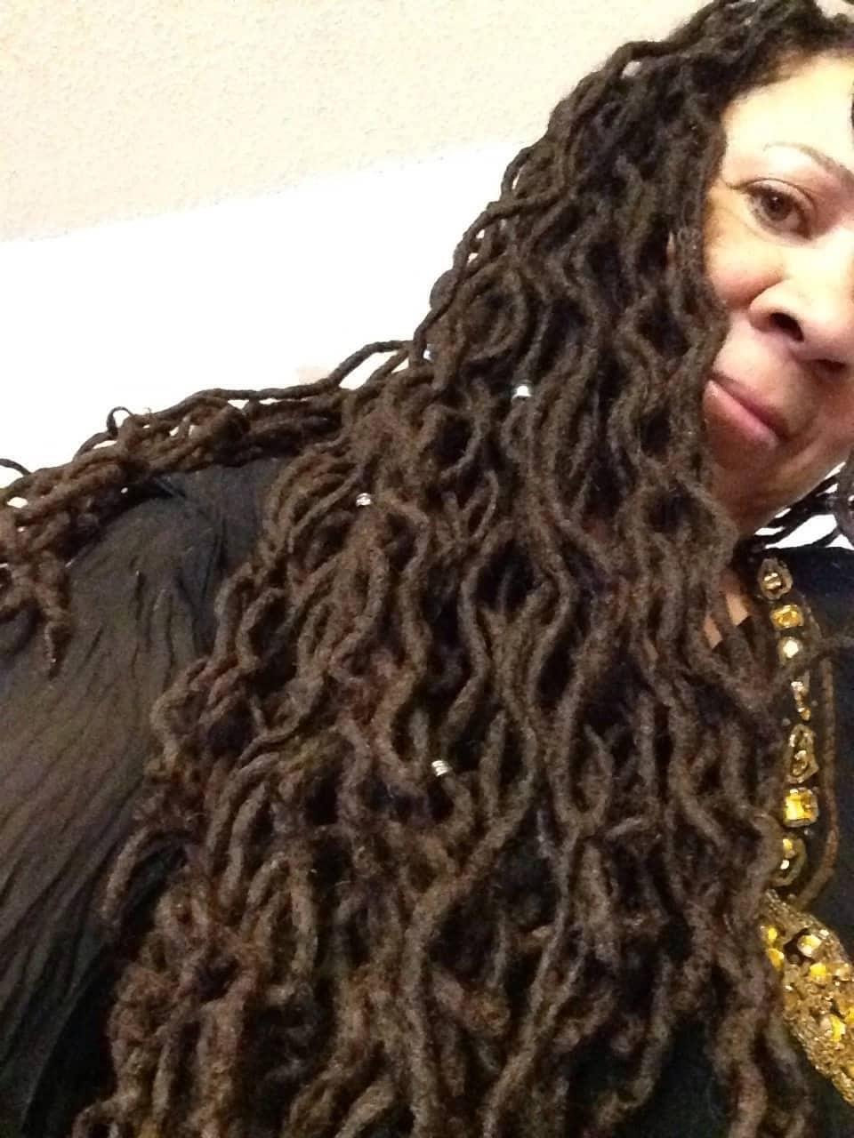 Wavy dreadlocks hairstyles for women