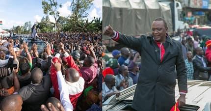 Uhuru Kenyatta buys ripe bananas from roadside vendor for breakfast