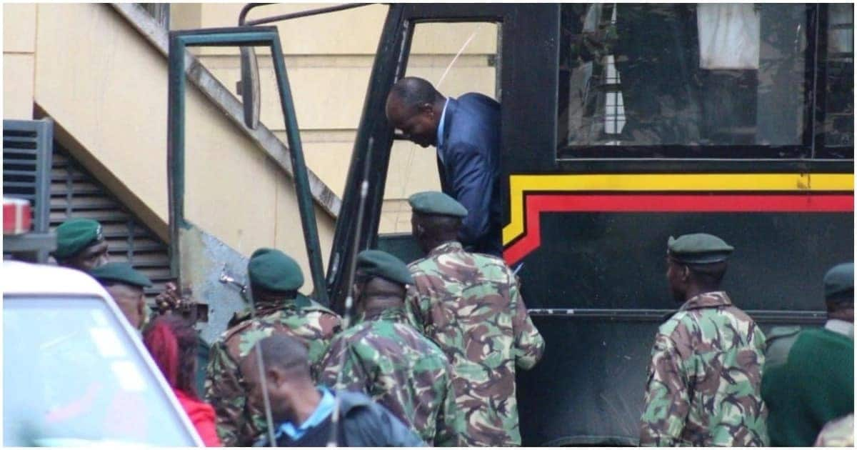 Governor Okoth Obado returns to court on bus used to transport prisoners