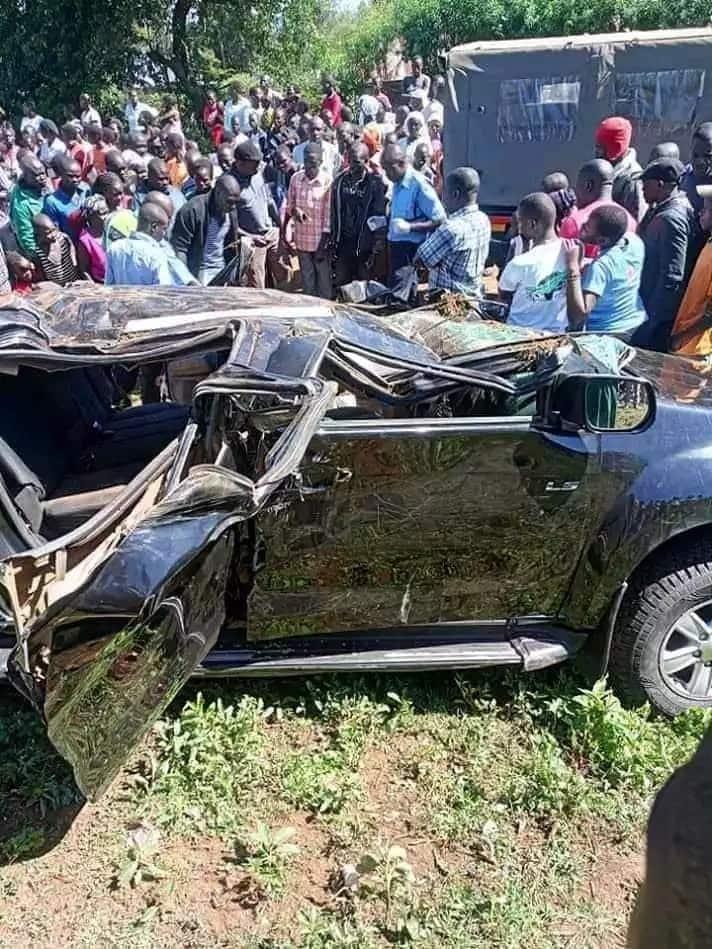 Mwakilishi wa Kike Kaunti ya Migori Pamela Odhiambo akimbizwa hospitalini kufuatia ajali iliyomuua mlinzi wake