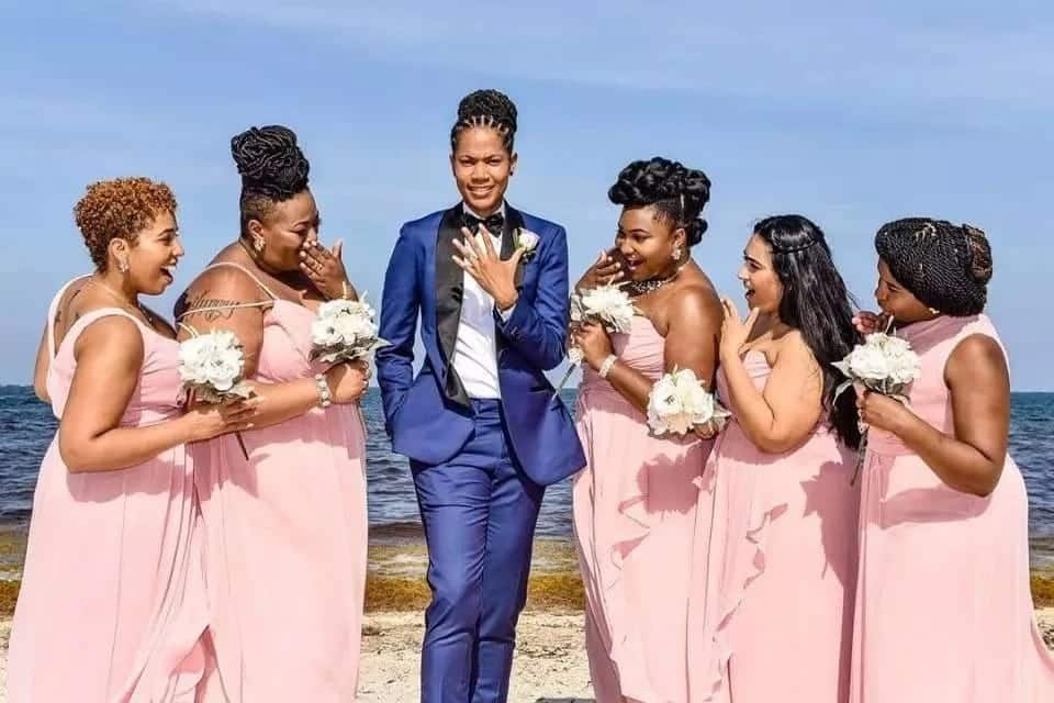 Zimbabwe lesbian couple tie the knot in colourful wedding