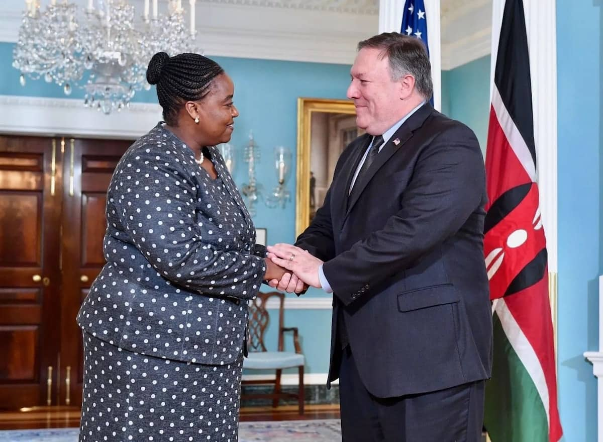 Foreign affairs CS in US ahead of Uhuru's historic meeting with Donald Trump