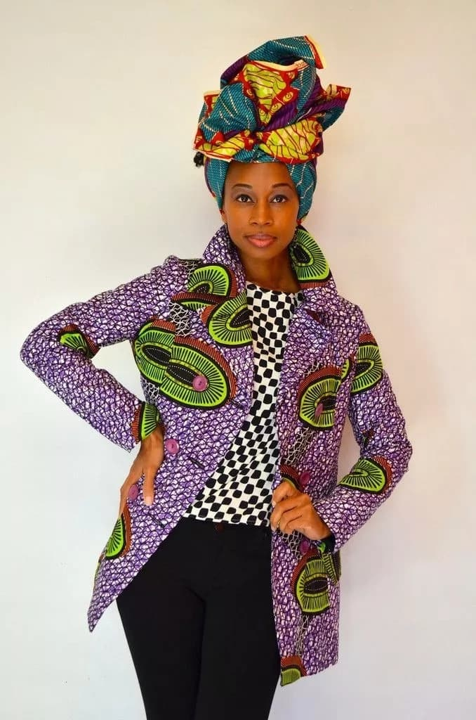 Kitenge coats designs