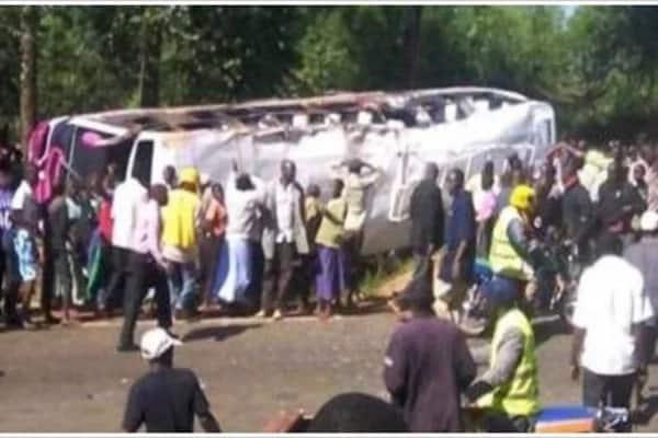 BREAKING! 26 badly injured as passengers' bus roll on Mombasa-Garissa road