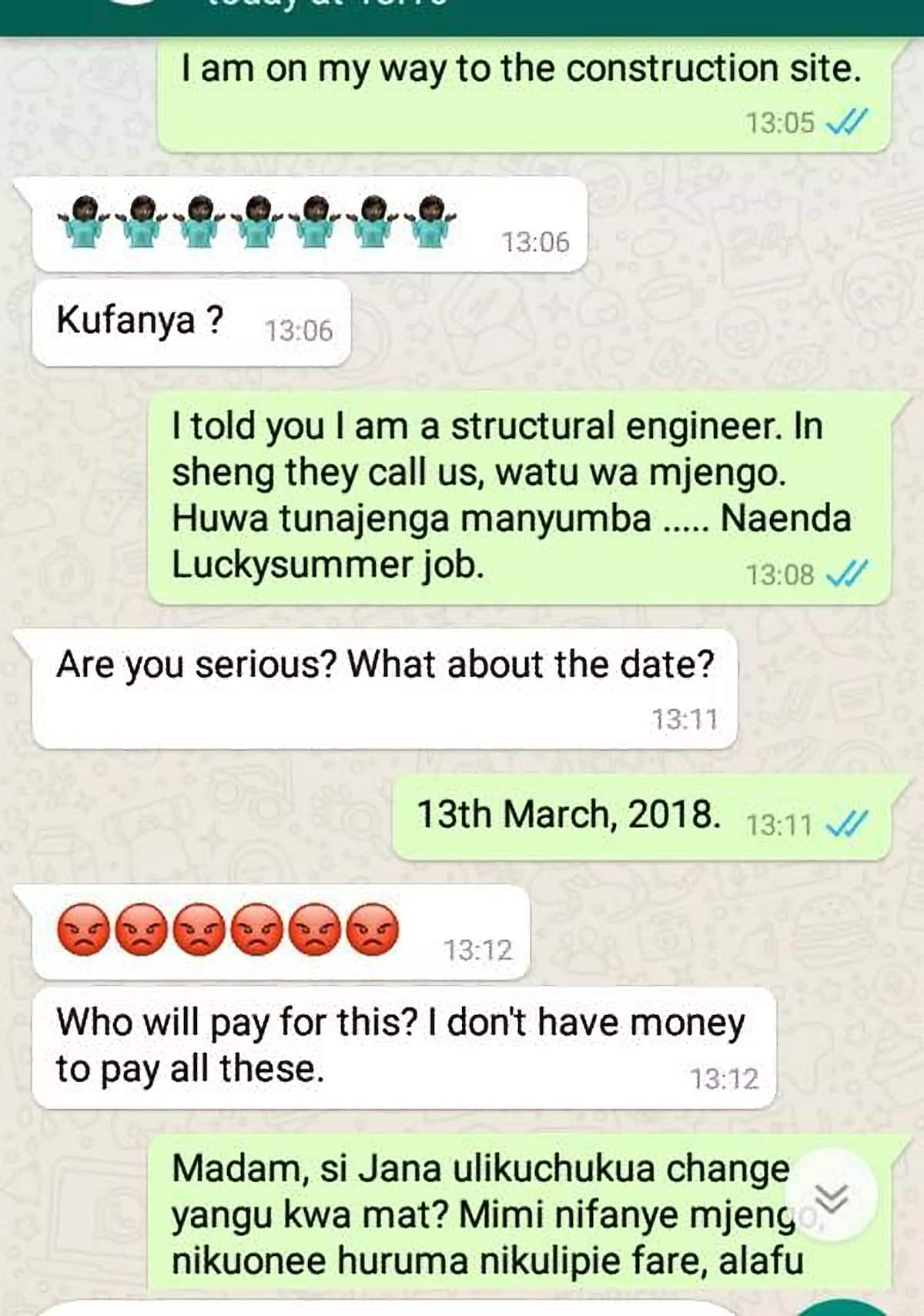 Mjengo man posing as an engineer leaves Nairobi slay queen high and dry