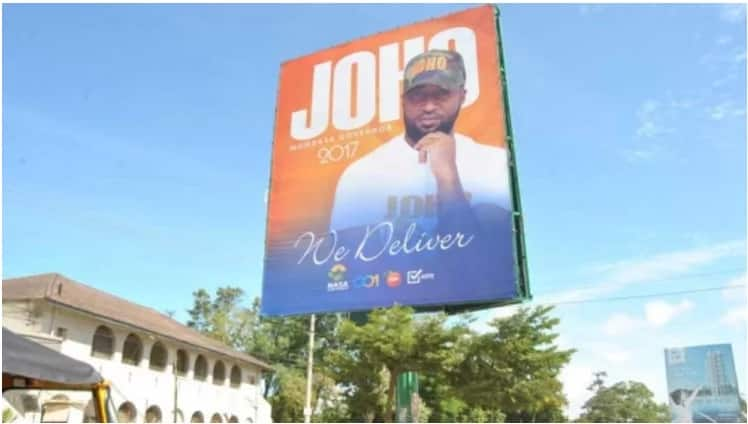 I am not safe – Joho's rival Hezron Awiti declares after unknown thugs take down his billboard