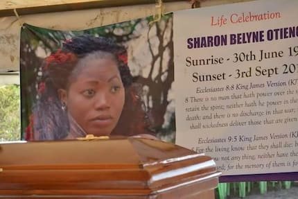 Picha za mazishi ya Sharon Otieno nyumbani kwa babu yake Homa Bay
