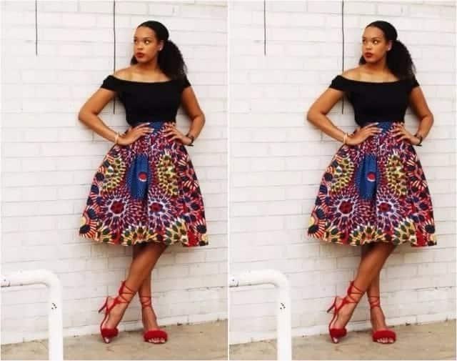 Kitenge skirts designs