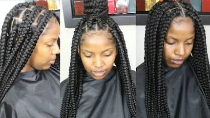 Latest big box braids hairstyles
