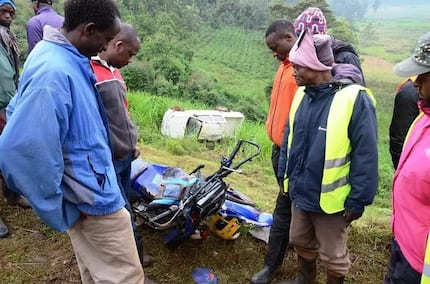 Three journalists survive scary road accident in Nyeri