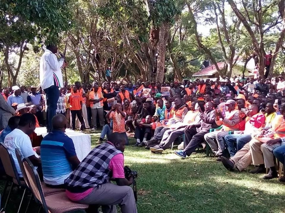 Raila forced to leave rally after ODM rival supporters clashed