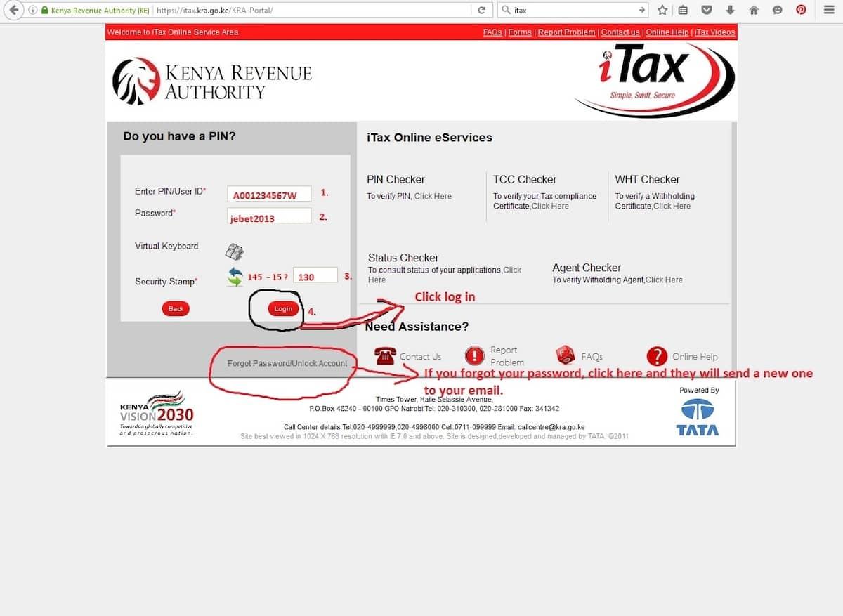 Reprinting KRA PIN certificate