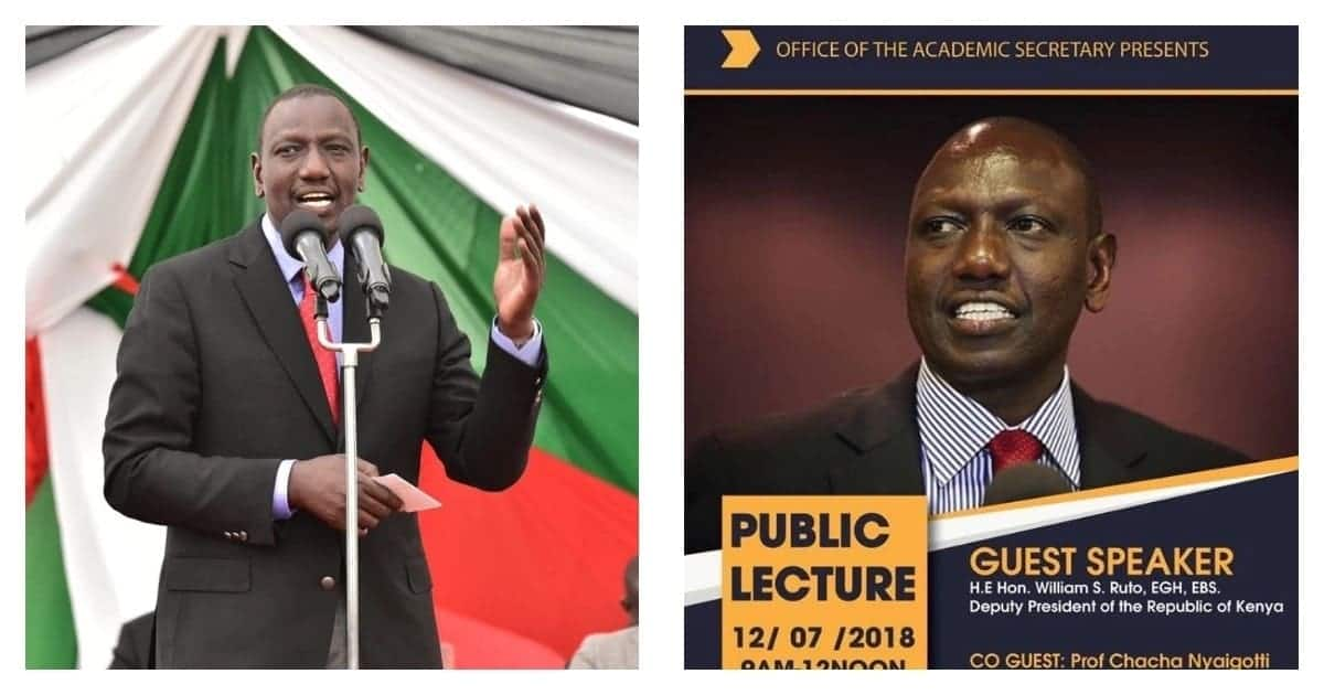 William Ruto expected to address public lecture themed journey to success