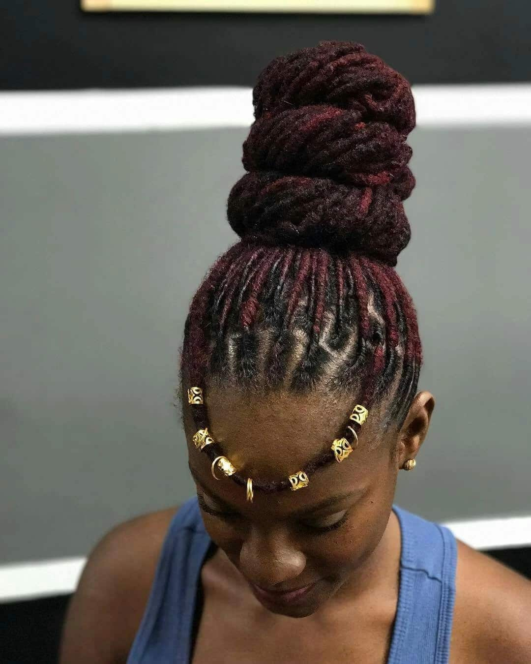 High bun dreadlocks hairstyles 2018