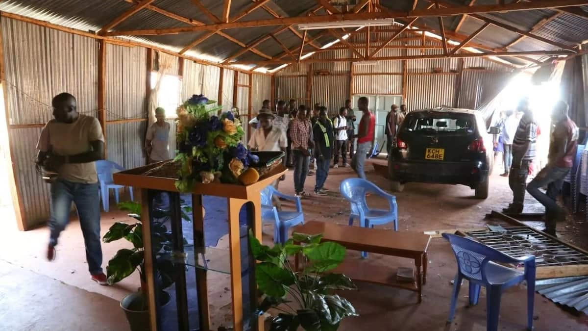Car veers off the road and lands inside church in rare Muranga accident