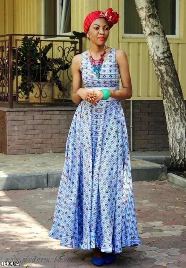 Kitenge long dresses