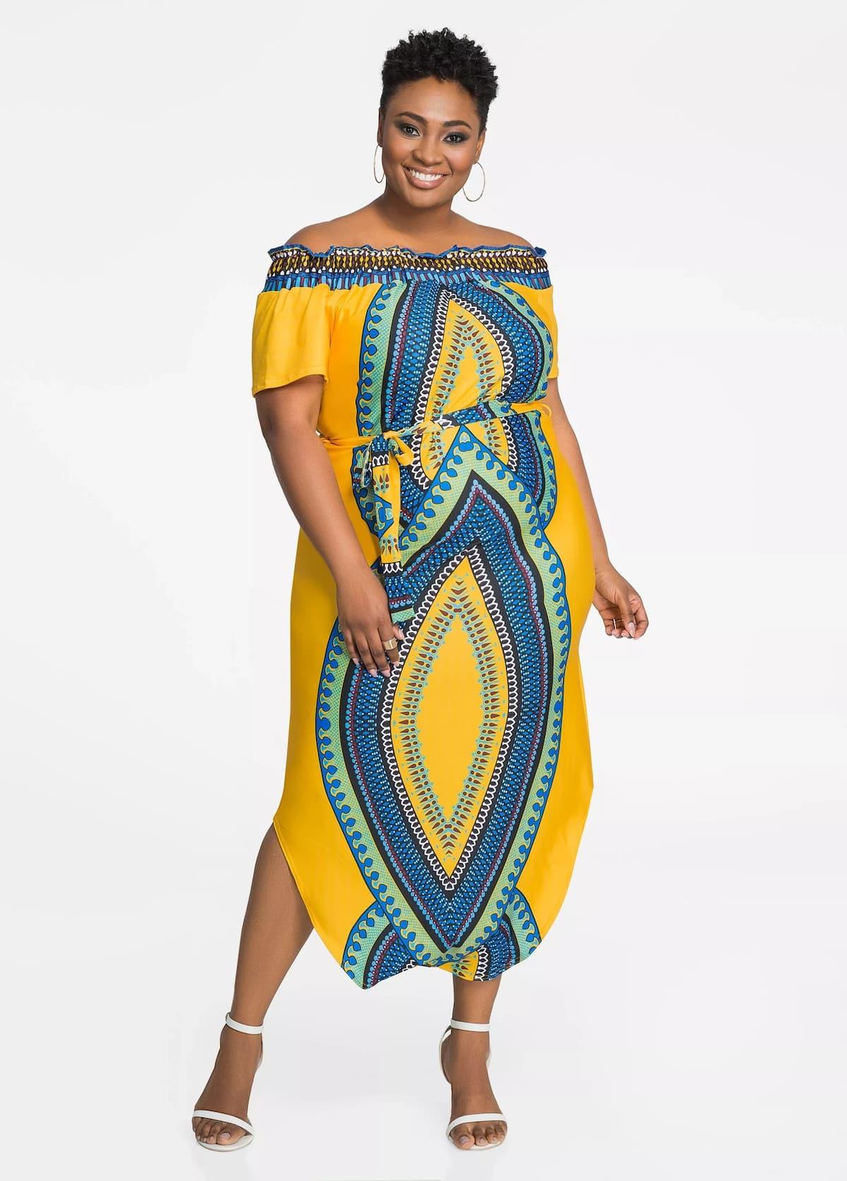 Trending dashiki plus size dress designs 2018