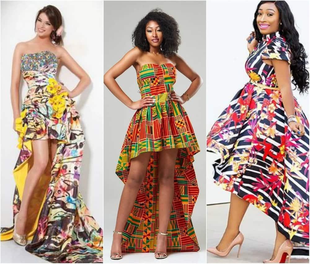 Ankara dress styles- high low