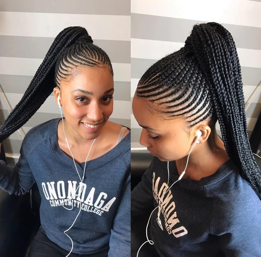 Braided Hairstyles For Short Hair Tuko Co Ke