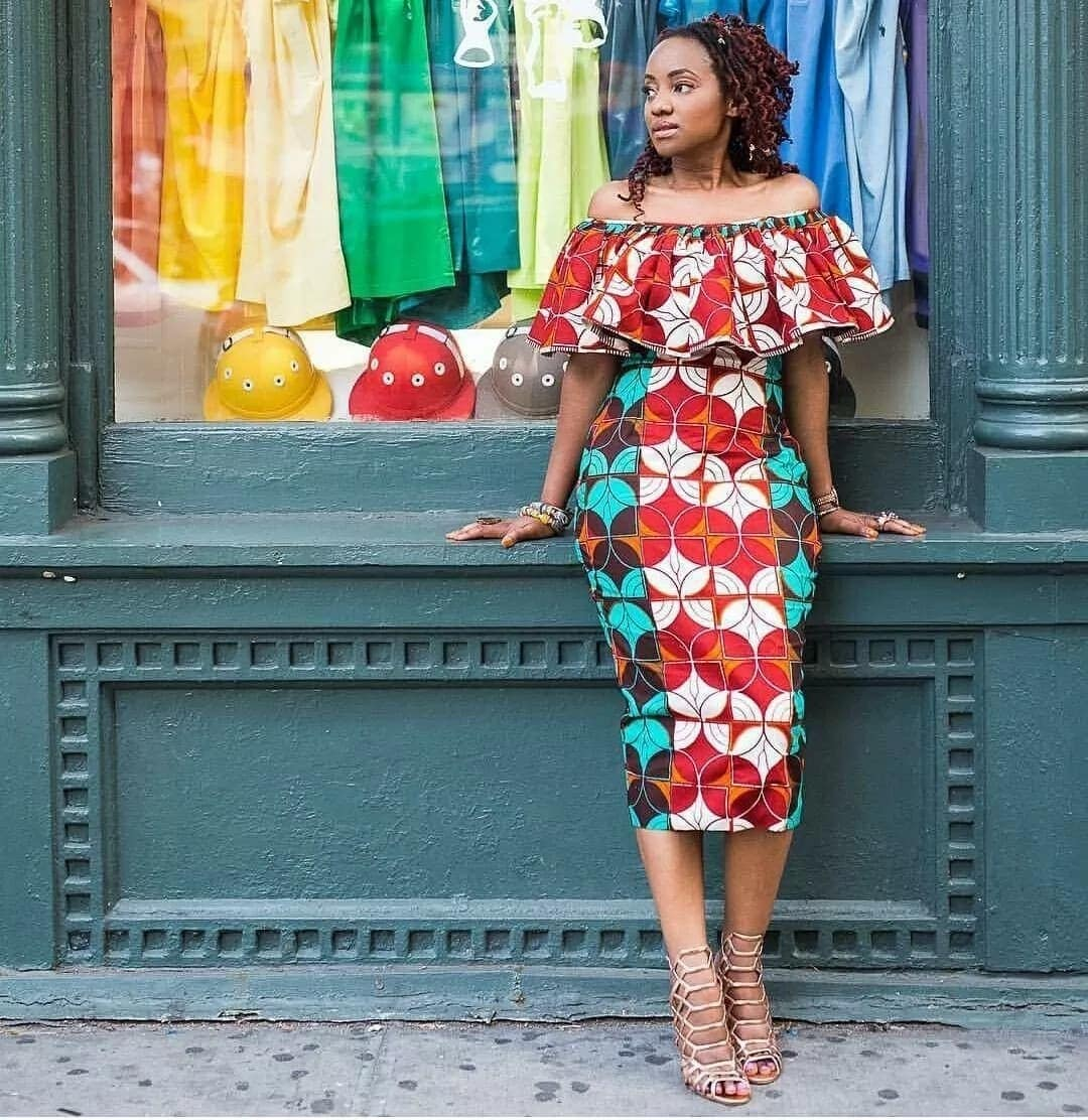 African print off shoulder dresses, best graduation dresses, ankara graduation dress