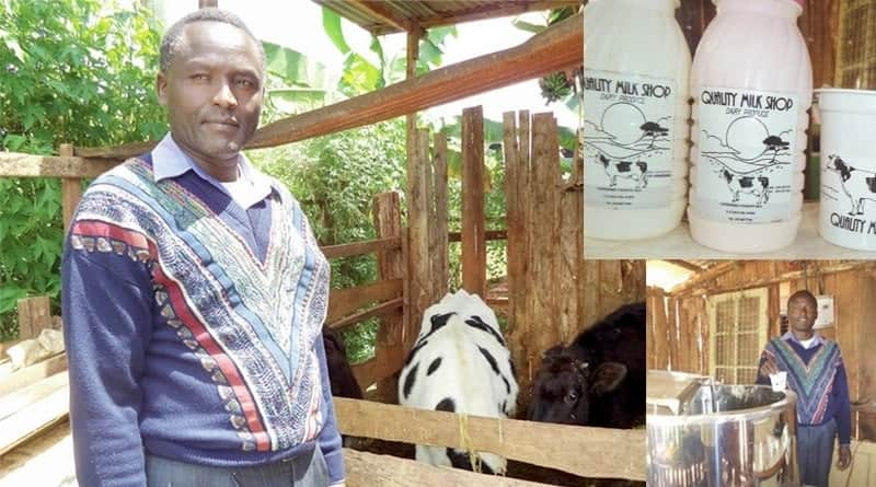 Mwangi Karenga, a Nyeri County resident and dairy farmer in Kenya