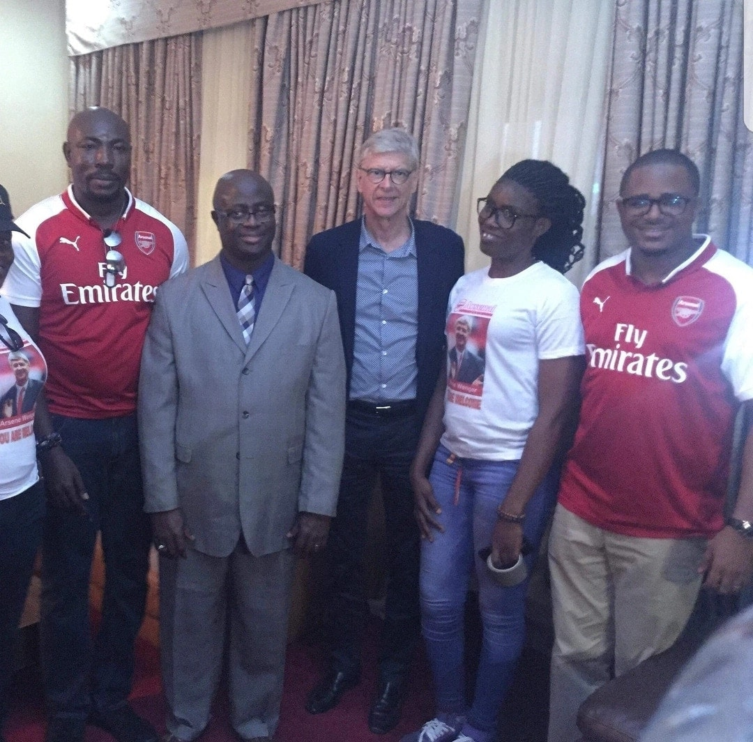 Ex-Arsenal boss Arsene Wenger lands in Liberia ahead of his award ceremony
