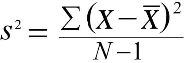 variance formula Variance calculation examtple