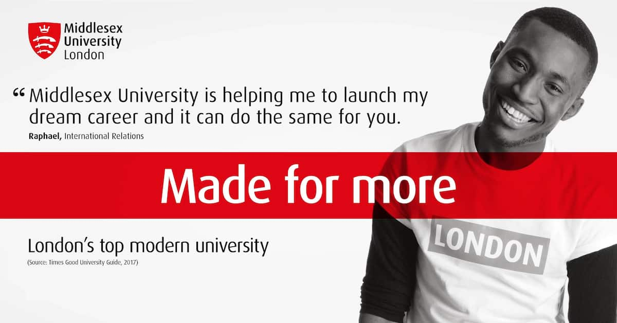 Apply for a Master's degree at Middlesex University (London, Malta, Dubai, Mauritius) From $5000.