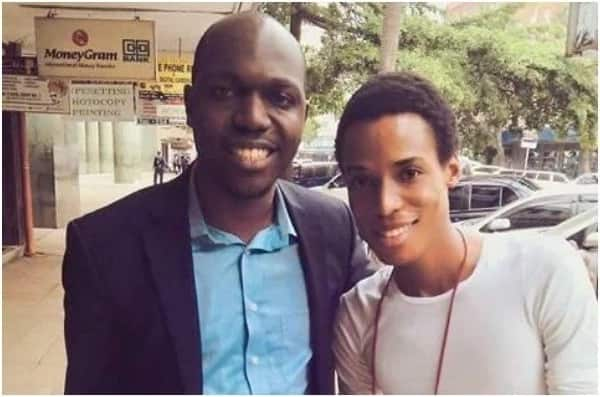 TV king Larry Madowo's photo with a gay singer