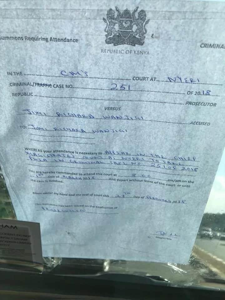 Armed police block NASA billionaire financier Jimmy Wanjigi on busy Nairobi road, threaten to arrest him