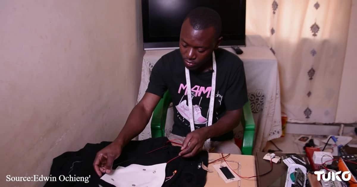 Kenyatta University electrical engineering student invents stylish intelligent jacket with temperature control