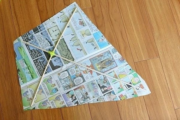 simple kite making guide, guide to making a kite, making a kite that can fly