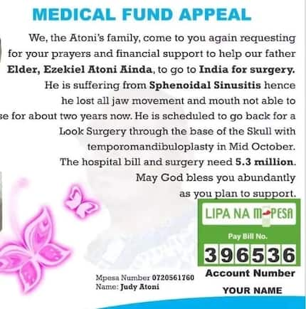 Kisii family appeals for financial help for sick father's surgery in India
