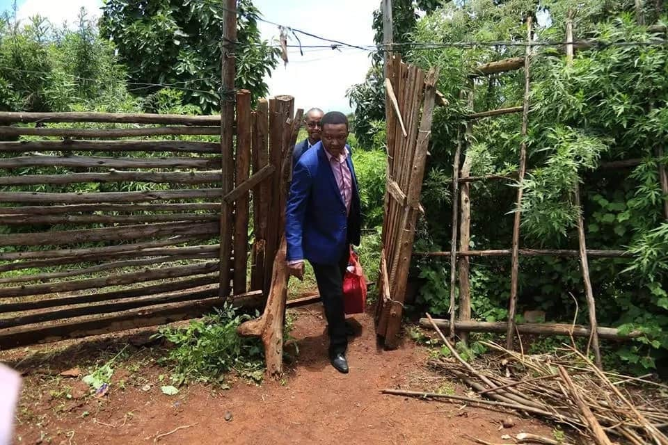 Alfred Mutua comes face to face with abject poverty on tour of Nyeri county