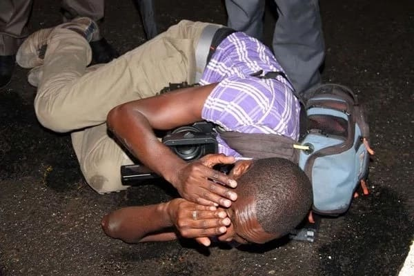 NTV camera man assaulted by GSU officers at JKIA
