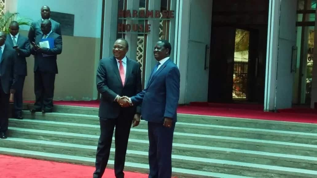 Uhuru and Raila Odinga surprise meeting lights up social media