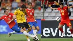 Eden Hazard limps off during Belgium's final pre-World Cup friendly against Costa Rica