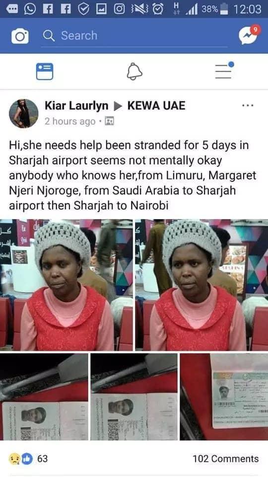 Mwanamke kutoka Kiambu aliyekuwa amekwama Saudi Arabia kwa wiki hatimaye akutana na familia yake