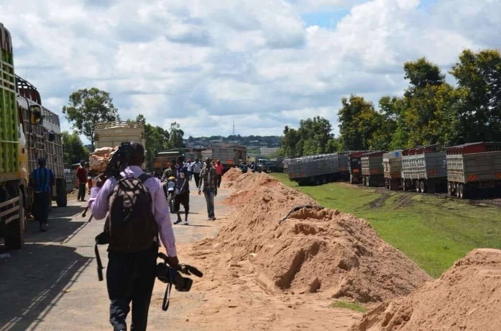 Impounded sand trucks on Thika-Garissa highway did not have number plates - KeNHA