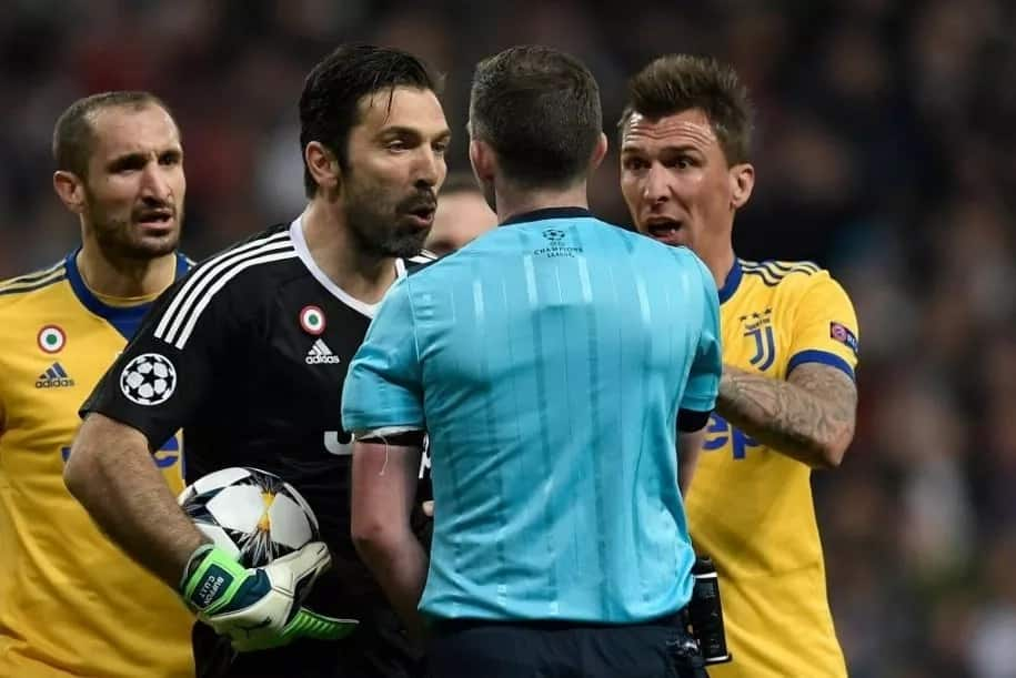 What he did was a crime against sportsmanship - Buffon slams referee Oliver
