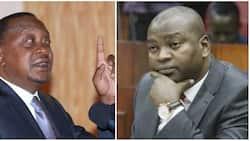 Rais Uhuru aaibika kuona waziri wake akigugumiza akitoa hotuba Ikuluni