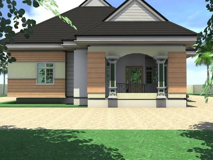 Low budget modern 3 bedroom house design ▷ Tuko.co.ke