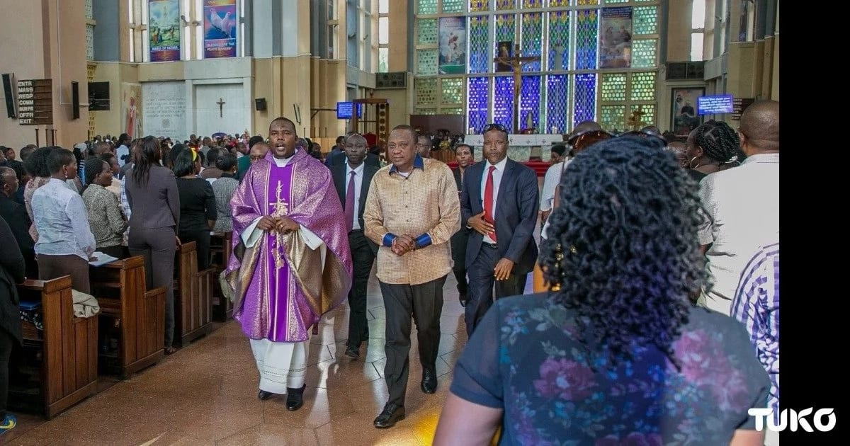 Uhuru takes time off heightened political temperatures to attend church