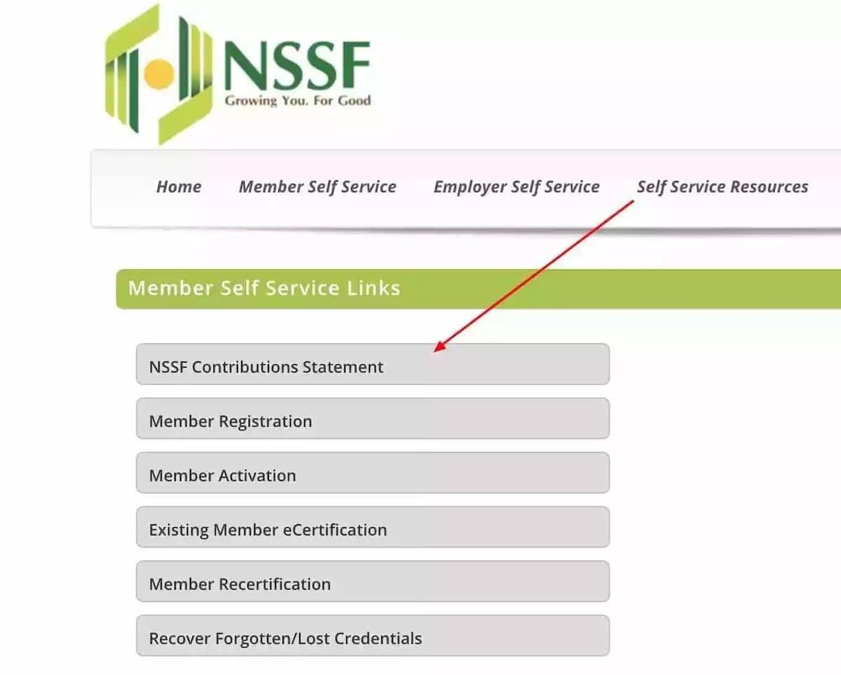 nssf Kenya statement online nssf Kenya e statement nssf Kenya financial statements my nssf Kenya statement Kenya nssf Kenya contribution statement