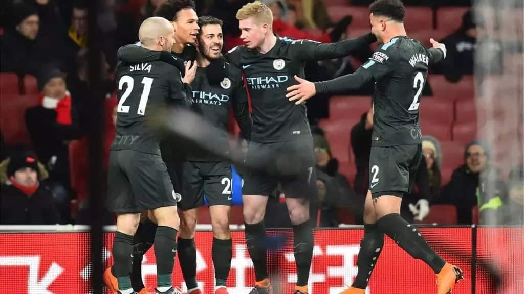 Manchester City beat Arsenal 3-0 in a Premier League match